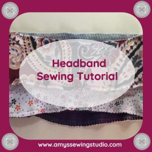 Headband Sewing Tutorial for Beginners. Step by Step Tutorial sewing stretch knit fabric headbands.