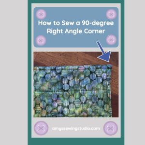 How to Sew a 90-degree Right Angle Corner