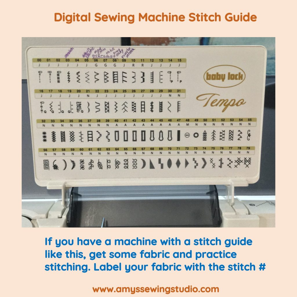Learning How to set up a Sewing Machine for a Successful Sewing Start. Most Digital Push-Button machines are pretty self explanatory. If you are not sure, just start selecting buttons and test them out with fabric in your machine. That's really the best way to learn a machine- All Hands ON!