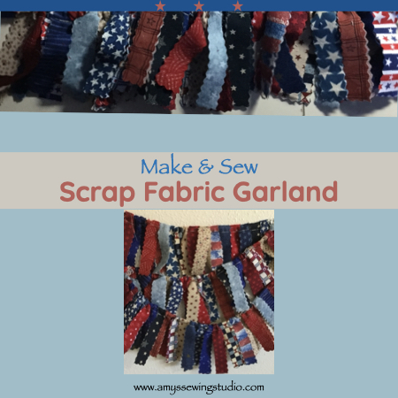 Make Fabric Garland. Click this photo to see ENTIRE 'Make Fabric Garland' Tutorial! Great photos for this sewing project too! This is a great Sewing Project for Beginners.