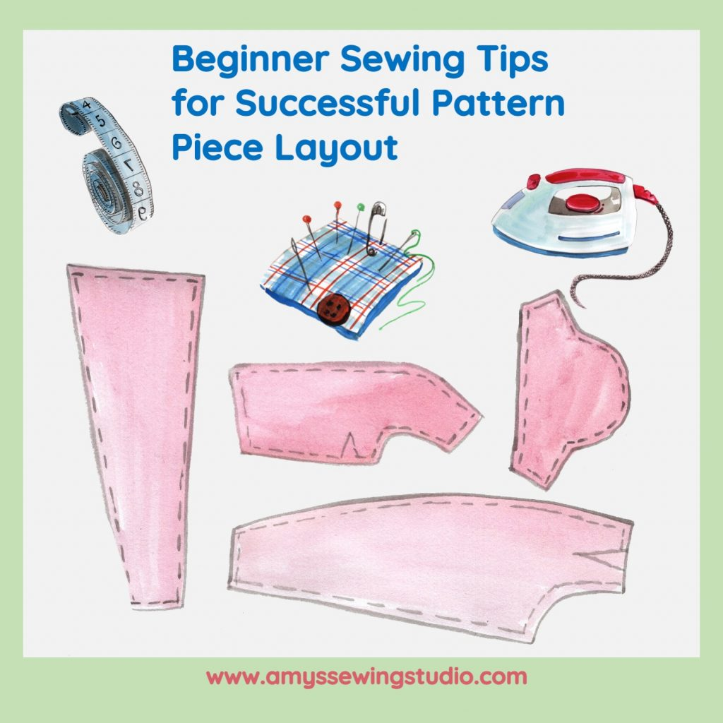 Get Helpful Tips for Sewing Pattern Layout. Commercial Sewing Patterns have Sewing Pattern Piece Layout illustrations but sometimes extra tips are helpful! These tips help the beginner seamstress to keep sewing as simple as possible. Check out this Tip Guide to see extra 'help' photos. Save this pin to your favorite board AND Click on this pin to get the TIPS!